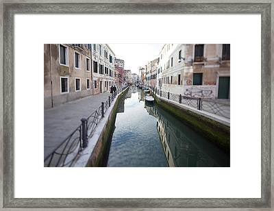 Venetian Canal - Selective Focus  Framed Print by Tilman Winkler
