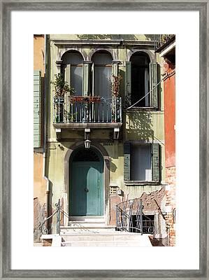 Venetian Doorway Framed Print by Carla Parris