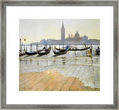 Venice At Dawn Framed Print by Timothy Easton