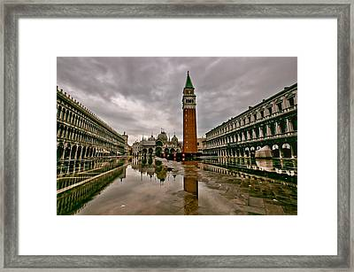 Venice At High Tide Framed Print by Stephanie Benjamin