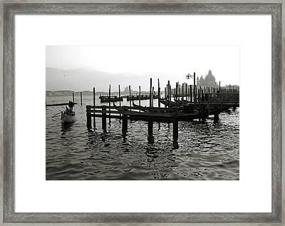 Venice Canal Grande IIi Framed Print by Nina Papiorek
