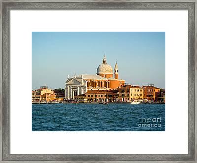 Venice Italy - San Giorgio Maggiore Island Framed Print by Gregory Dyer