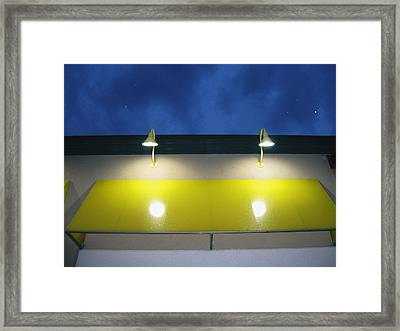 Venus In The Sky Framed Print by Todd Sherlock