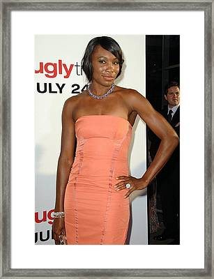 Venus Williams At Arrivals For The Ugly Framed Print by Everett