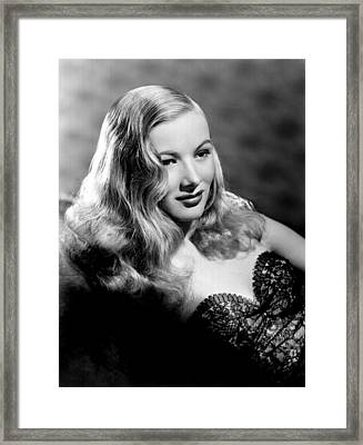 Veronica Lake Portrait, Featuring Framed Print by Everett