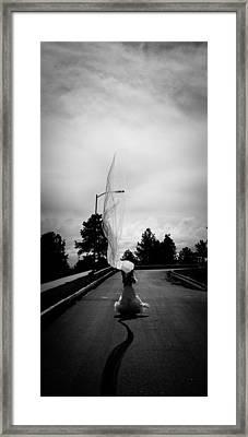 Vertical Cloth Wind  Framed Print by Scott Sawyer