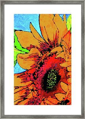 Vertical Sunflower Framed Print by Laura  Grisham