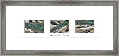Verzasca Stones Framed Print by Joana Kruse