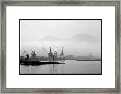 Vesuvius In The Mist. Framed Print by Terence Davis
