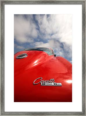Vette Window Framed Print by Peter Tellone