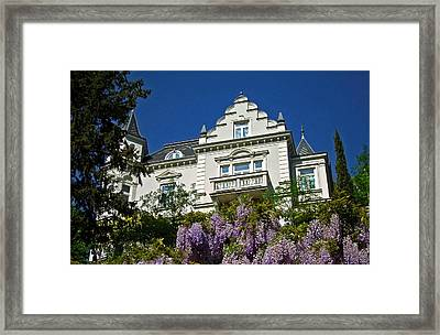 Via Giardini ... Framed Print by Juergen Weiss