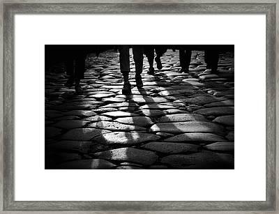 Via Sacra Framed Print by Fabrizio Troiani