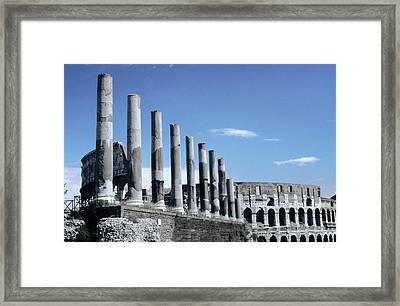 Via Sacra Imposing Columns Colloseum Rome Framed Print by Tom Wurl
