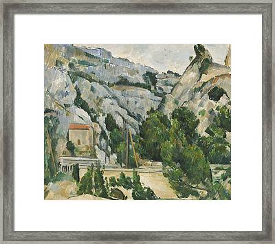 Viaduct At L'estaque Framed Print by Paul Cezanne