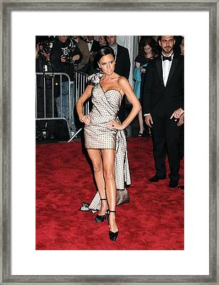 Victoria Beckham Wearing A Marc Jacobs Framed Print by Everett