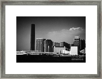 Victoria Harbour View Of Kowloon Tsim Sha Tsui Skyline Including Star Ferry Terminal Hong Kong Framed Print by Joe Fox