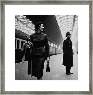 Victoria Station, London, England Framed Print by Everett