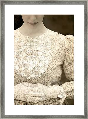 Victorian Dress Framed Print by Joana Kruse