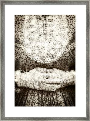 Victorian Hands Framed Print by Joana Kruse