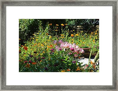 Victorian Summer Garden Framed Print by Theresa Willingham