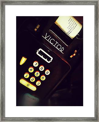 Victor's Accounting Framed Print by Olivier Calas