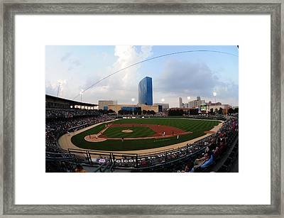 Victory Field Home Of The Indianapolis Indians Framed Print by Rob Banayote