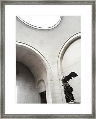 Victory Leaving Framed Print by Nikos Kantarakias
