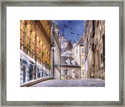 Vienna Cobblestone Alleys And Forgotten Streets Framed Print by Juli Scalzi