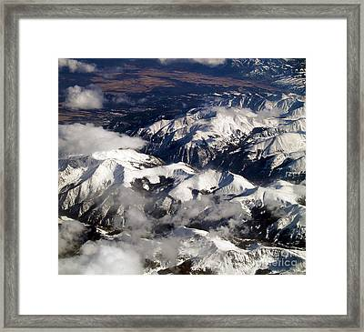 View From Above Iv Framed Print by Patricia Griffin Brett