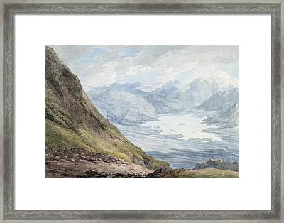 View From Skiddaw Over Derwentwater  Framed Print by Thomas Hearne