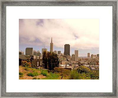 View From Telegraph Hill, San Francisco Framed Print by Federica Gentile