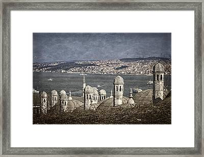View From The Backyard Framed Print by Joan Carroll