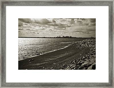 View From The Island Framed Print by Andrew Kubica