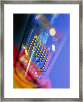 View Of A Technical Electric Light Bulb Framed Print by Tek Image
