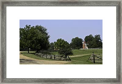 View Of Appomattox Courthouse 2 Framed Print by Teresa Mucha