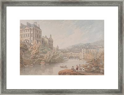 View Of Bath From Spring Gardens  Framed Print by Thomas Hearne