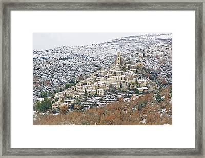 View Of Eus Framed Print by Ángeles Antolín