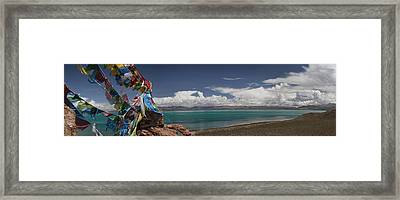 View Of Freshwater Lake Manasarovar Framed Print by Phil Borges