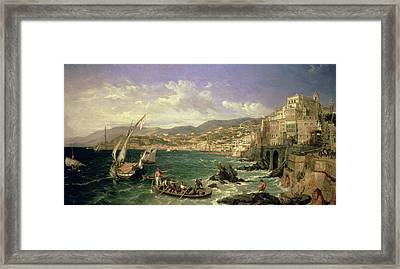View Of Genoa Framed Print by William Parrott