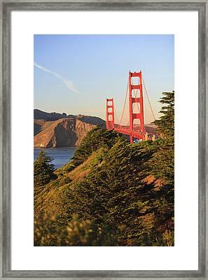 View Of Golden Gate Bridge San Framed Print by Stuart Westmorland