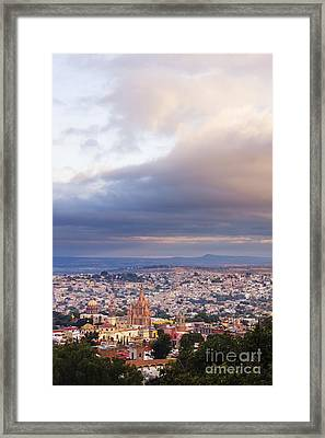 View Of Old World City Framed Print by Jeremy Woodhouse