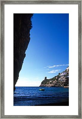 View Of Praiano Italy Framed Print by Cliff Wassmann