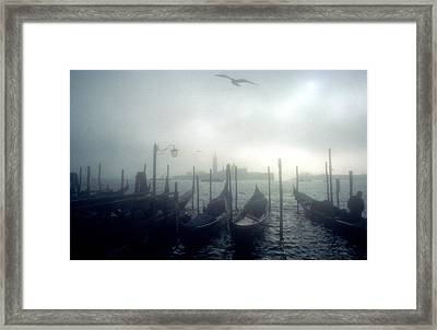 View Of San Giorgio Maggiore From The Piazzetta San Marco In Venice Framed Print by Simon Marsden