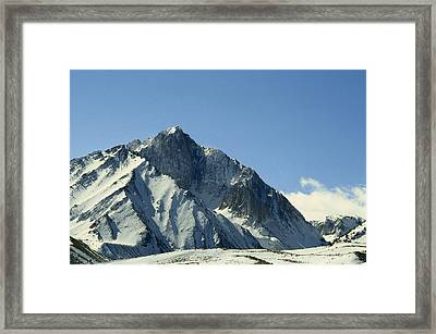 View Of Snow-covered Mountain Ridges Framed Print by Gordon Wiltsie