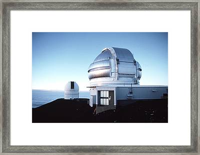 View Of The Gemini Telescope Dome On Mauna Kea Framed Print by Magrath Photography
