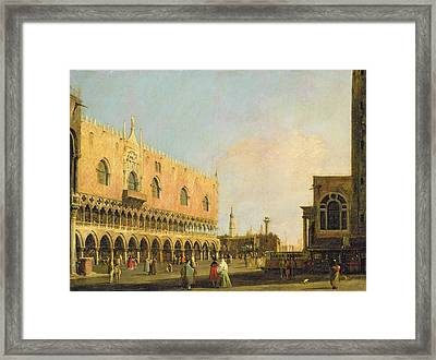 View Of The Piazzetta San Marco Looking South Framed Print by Canaletto