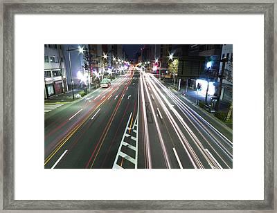 View Of Traffic At Nihonbashi, Tokyo, Japan Framed Print by Billy Jackson Photography