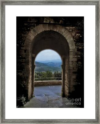 View Of Tuscany Framed Print by Karen Lewis