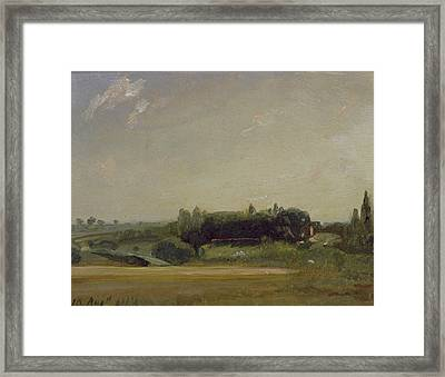 View Towards The Rectory - East Bergholt Framed Print by John Constable