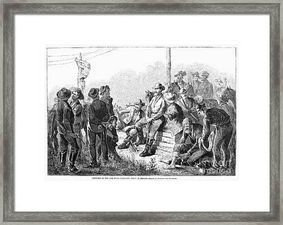Vigilante Court, 1874 Framed Print by Granger